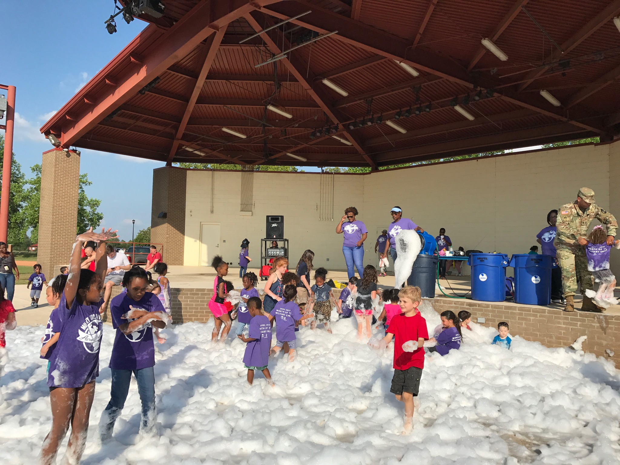 Take a look at Fort Gordon implementing their action plan's WOW! idea of a FOAM Party for the Month of the Military Child.