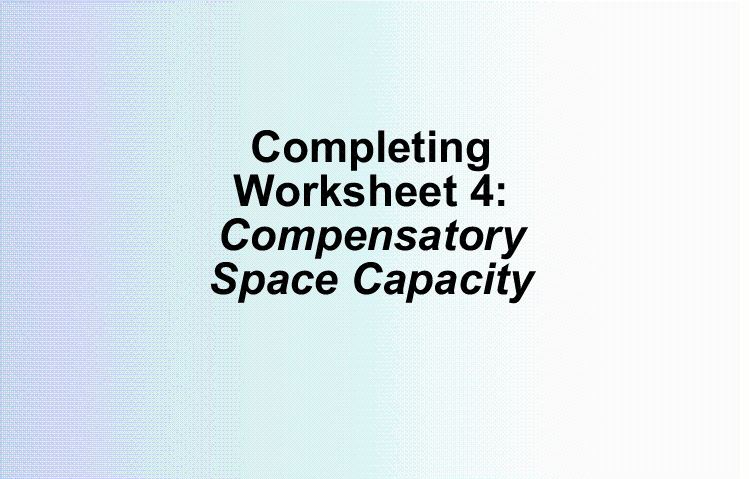 WS4 Compensatory Space Capacity